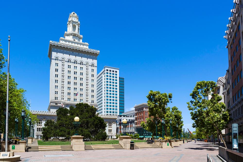 E94EN0 City Hall, Frank H Ogawa Plaza, Oakland, Alameda County, California, USA